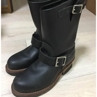 レッドウィング(REDWING)の正規品レッドウィング エンジニア ブーツ ブラック(ブーツ)