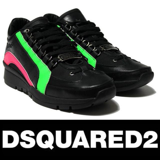 DSQUARED2(ディースクエアード)の専用 32 DSQUARED2  ネオンカラー スニーカー size 42 メンズの靴/シューズ(スニーカー)の商品写真