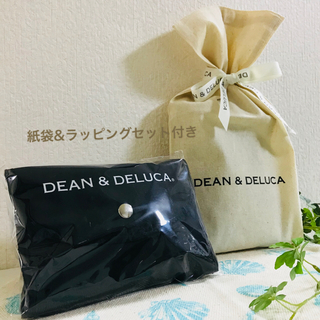 ディーンアンドデルーカ(DEAN & DELUCA)の✧︎迅速発送✧︎ラッピングセット付き✧︎エコバッグ 黒 DEAN&DELUCA(エコバッグ)