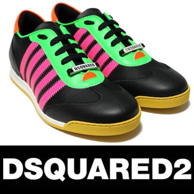 DSQUARED2(ディースクエアード)の【31】 DSQUARED2 ネオンカラー スニーカー size 43 メンズの靴/シューズ(スニーカー)の商品写真