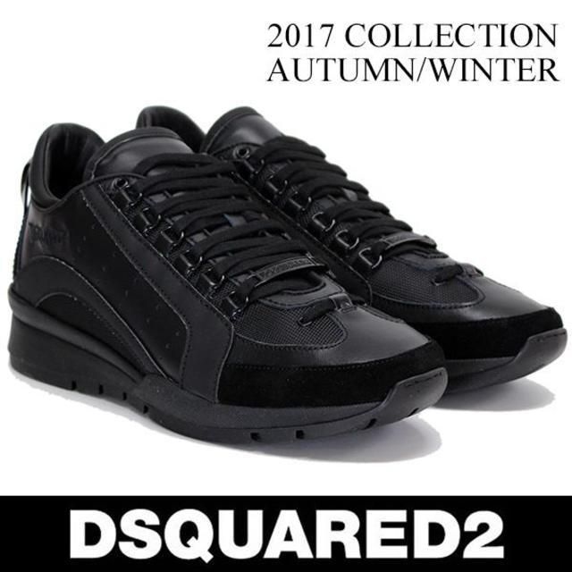 DSQUARED2(ディースクエアード)の【47】 DSQUARED2 ブラック スニーカー size 44 メンズの靴/シューズ(スニーカー)の商品写真