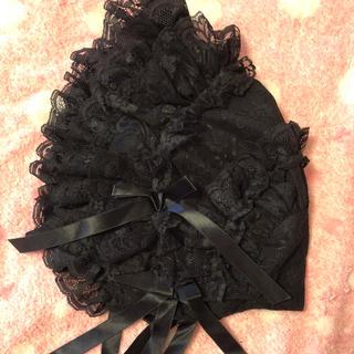 メタモルフォーゼタンドゥフィーユ(metamorphose temps de fille)のメタモルフォーゼ レースフルボンネット 黒(ハット)