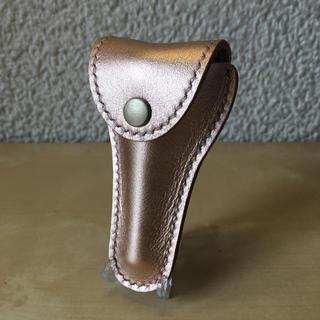 ハンドメイド 革製 トロンボーン&ユーフォニアム マウスピース ケース(ポーチ)(トロンボーン)