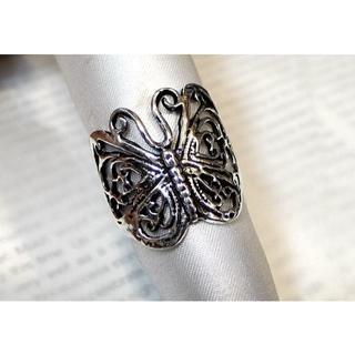 SR1503 指輪シルバー925(刻印無し)リング 22号 蝶々 チョウチョ(リング(指輪))