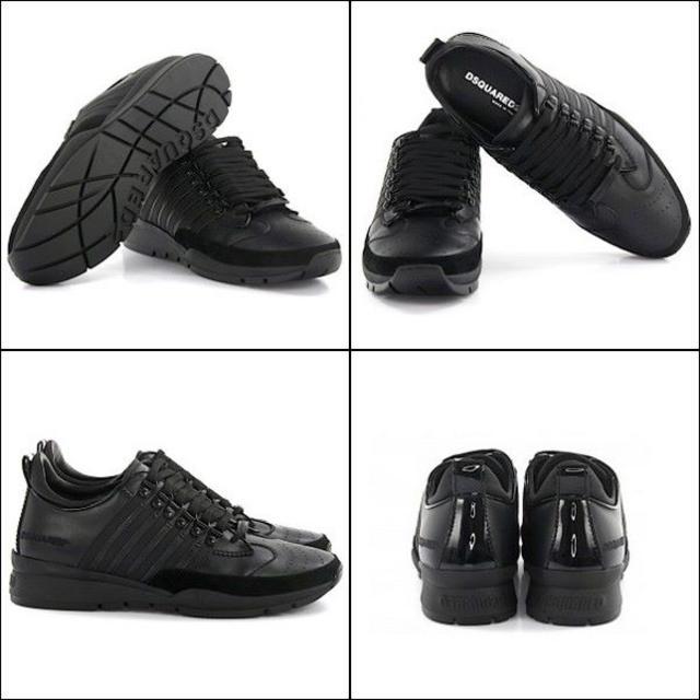 DSQUARED2(ディースクエアード)の【52】 DSQUARED2 ブラック スニーカー size 43 メンズの靴/シューズ(スニーカー)の商品写真