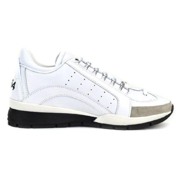 DSQUARED2(ディースクエアード)の【53】 DSQUARED2 ホワイト スニーカー size 42 メンズの靴/シューズ(スニーカー)の商品写真