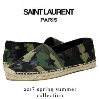サンローラン(Saint Laurent)の【1】 SAINT LAURENT エスパドリーユ スリッポン size 42(スリッポン/モカシン)