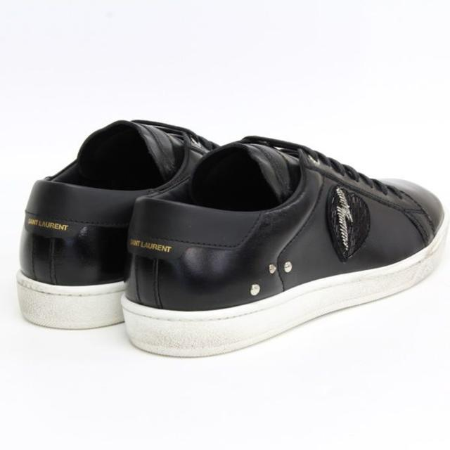 Saint Laurent(サンローラン)の【10】 SAINT LAURENT ハート パッチ スニーカー size 42 メンズの靴/シューズ(スニーカー)の商品写真