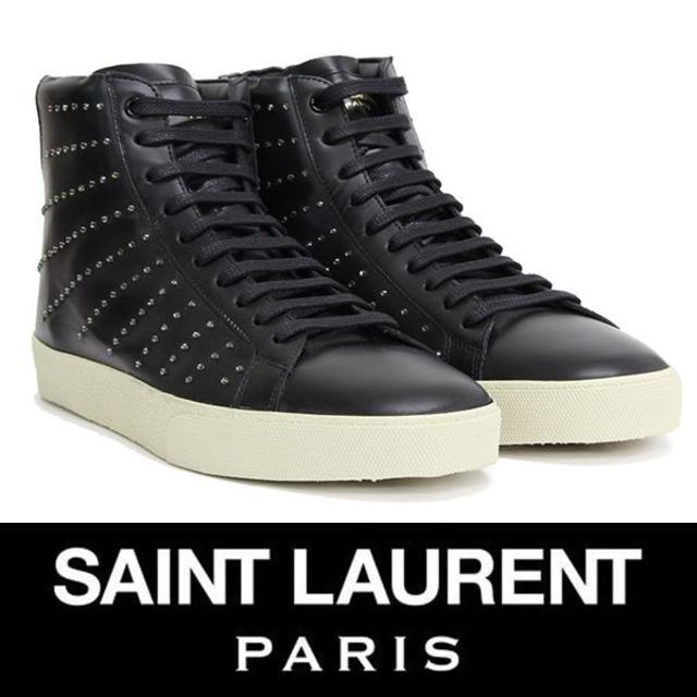 Saint Laurent(サンローラン)の【8】 SAINT LAURENT ハイカットスニーカー size 42.5 メンズの靴/シューズ(スニーカー)の商品写真