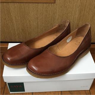サヤ(SAYA)の《新品》SAYA スクエア トゥスリッポン ♪  (ラボキゴシ)(ローファー/革靴)
