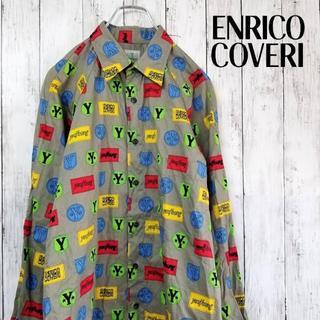 【激レア】総柄シャツ ENRICO COVERI イタリアブランド Mサイズ