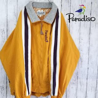 パラディーゾ(Paradiso)の【90sデザイン】パラディーゾ ナイロンジャケット イエロー LL(ナイロンジャケット)