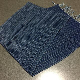 藍染 綿素材100% スカーフ (スカーフ)