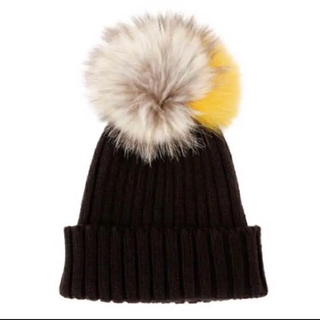 ルシェルブルー(LE CIEL BLEU)のファーニット帽(ニット帽/ビーニー)