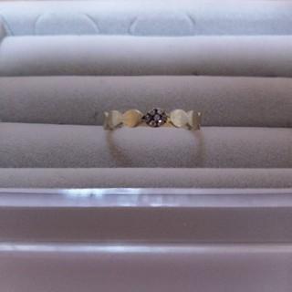 カオル(KAORU)のKAORU ダイヤモンドリング K10グリーンゴールド(リング(指輪))