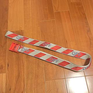 オフホワイト(OFF-WHITE)のoff-white ベルト(赤・銀)(ベルト)