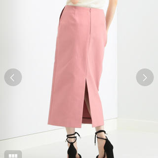 デミルクスビームス(Demi-Luxe BEAMS)のdemi luxe beams フロントスリットコットンタイトスカート(ひざ丈スカート)