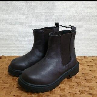 ジーユー(GU)の♪5点以上特別セール♡GU ジーユー BOYS サイドゴアブーツ ダークブラウン(ブーツ)