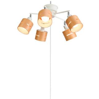 ヤザワコーポレーション(Yazawa)の【新品】ヤザワ 5灯ウッドセードシーリング ナチュラル  電気 ライト 照明(天井照明)