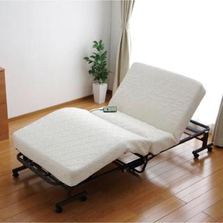 アイリスオーヤマ(アイリスオーヤマ)のKuma様専用  折りたたみ リクライニング ベッド (セミダブルベッド)