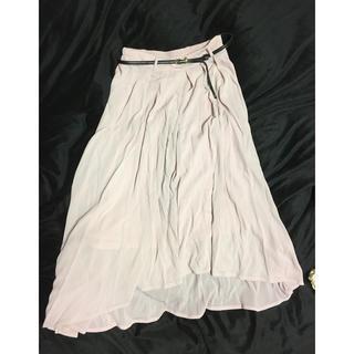 シマムラ(しまむら)のしまむら♥️くすみピンクベルト付きフィッシュテールスカート(ロングスカート)