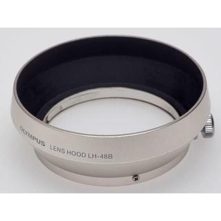 オリンパス(OLYMPUS)のOLYMPUS 純正 メタルレンズフード LH-48B シルバー(レンズ(単焦点))