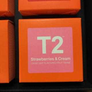 日本未上陸 オーストラリア T2 紅茶 ストロベリーズアンドクリーム(茶)