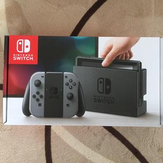 ニンテンドウ(任天堂)の【新品未開封&納品書(^_^)】Nintendo Switch  グレー(家庭用ゲーム本体)