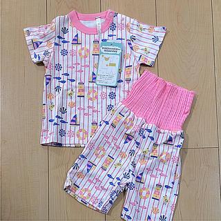 シマムラ(しまむら)の新品 パジャマ 80 腹巻き付きパンツ 綿100で汗をしっかり吸い取る(パジャマ)