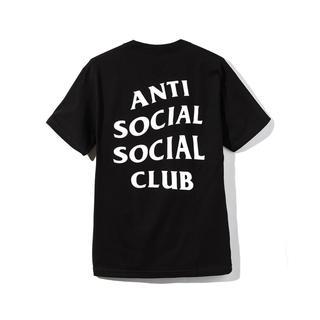 アンチ(ANTI)のanti social social club Tシャツ ブラック L(Tシャツ(半袖/袖なし))