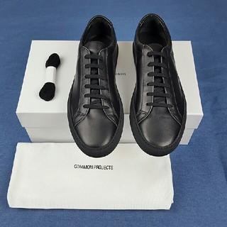 コモンプロジェクト(COMMON PROJECTS)のコモンプロジェクト レザースニーカー  ブラック  41新品(スニーカー)