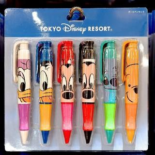 Disney - ☆ディズニーリゾート限定☆ キャラクター ビッグフェイス ボールペン セット