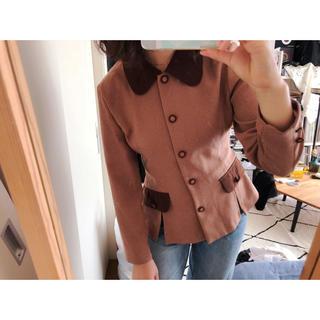 古着丸襟のジャケット(テーラードジャケット)