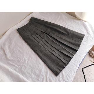 グレンチェックのプリーツスカート(ひざ丈スカート)