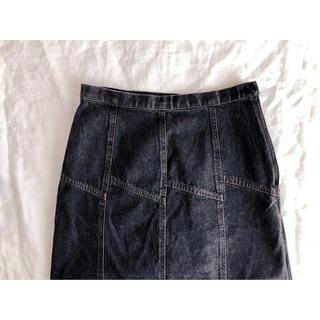 ブラックデニムのロングスカート(ロングスカート)