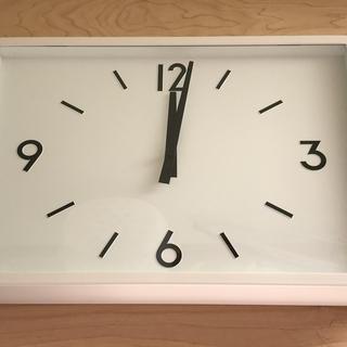 ムジルシリョウヒン(MUJI (無印良品))の駅の時計・電波ウォールクロック(掛時計/柱時計)