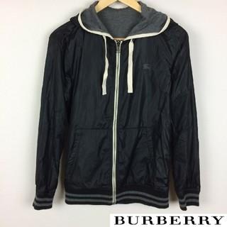 バーバリーブラックレーベル(BURBERRY BLACK LABEL)の美品 BURBERRY BLACK LABEL 長袖ジップパーカー リバーシブル(パーカー)