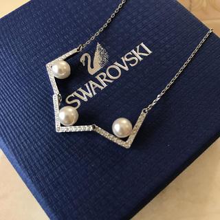 スワロフスキー(SWAROVSKI)のスワロフスキー♡パールネックレス(ネックレス)