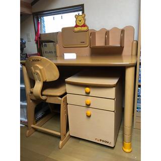 コイズミ(KOIZUMI)の学習机 くまのプーさん ディズニー デスク チェア(学習机)