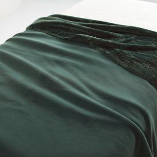 ムジルシリョウヒン(MUJI (無印良品))の新品 無印良品 片面フリース毛布 シングル 140×200cm グリーン(毛布)