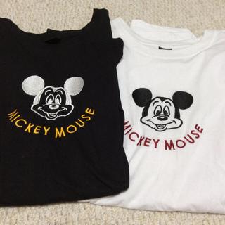 Disney - ディズニー ミッキーTシャツ お揃い ペアルック