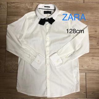 ザラ(ZARA)のZARA 128cm  キッズ シャツ 白 蝶ネクタイ付 フォーマル 七五三(ブラウス)