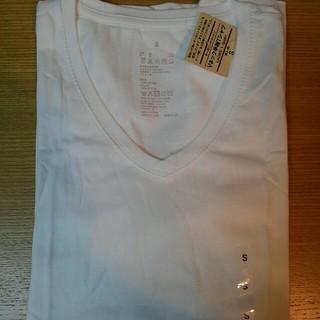 ムジルシリョウヒン(MUJI (無印良品))の無印良品 オーガニックコットン Vネック 半袖 Tシャツ 婦人 S 白(Tシャツ(半袖/袖なし))