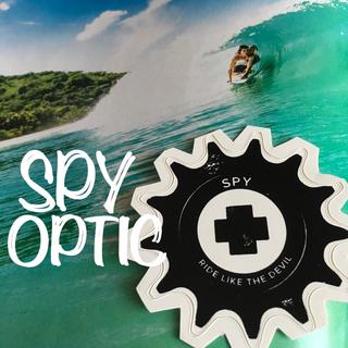 スパイ(SPY)のスパイSPYクロスUS限定miniARTダイヤル型抜きステッカー(サーフィン)