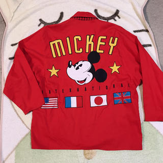 ディズニー(Disney)のミッキー ビッグジャケット レッド(テーラードジャケット)