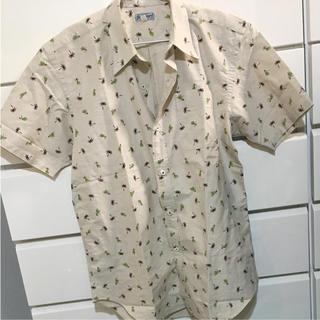 サンサーフ(Sun Surf)の半袖シャツ sunsurf アロハシャツ ヤシの木 ベージュ(シャツ)