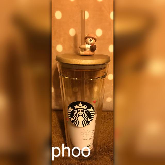 Starbucks Coffee(スターバックスコーヒー)のスタバ 韓国【オータム フィギュア グラス コールドカップタンブラー】591ml インテリア/住まい/日用品のキッチン/食器(タンブラー)の商品写真