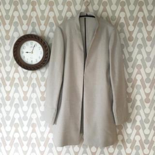 ジェットセット(JET SET)の新品タグ付き☆麻調合維ノーカラーロングジャケット(ノーカラージャケット)