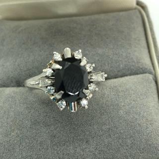 ブラックダイアモンドリング(リング(指輪))