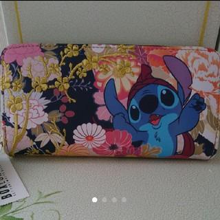 ディズニー(Disney)のラウンジフライ スティッチ 刺繍長財布(財布)